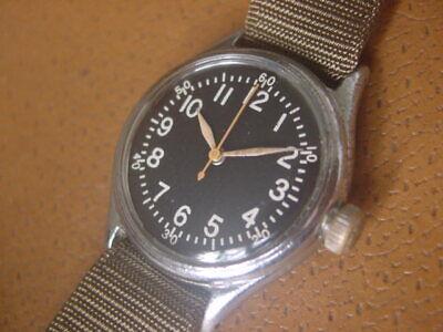 World War 2 Era Bulova U.S. Military Issue Wrist Watch ....... Type A - 11