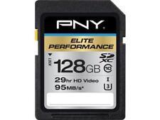 PNY 128GB Elite Performance SDXC UHS-I/U3 Class 10 Memory Card, Speed Up to 95MB