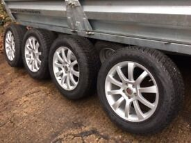 4 X Alloy wheels with Nexus mud and snow tyres for Mercedes ML 11 Reg