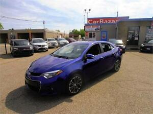 2014 TOYOTA COROLLA S SUNROOF LTHRTE CAM LOADED EASY CAR FINANCE