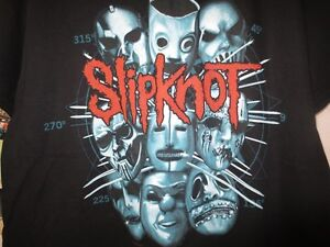 NEW SLIPKNOT T-SHIRT 1 LARGE & 1 EXTRA LARGE METAL T-SHIRTS