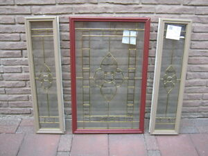 Entry door glass window and sidelight windows