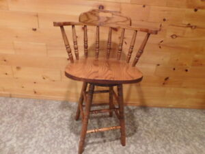 Super-Duper Awesome Swivel Hardwood Chair for Sale!!!!