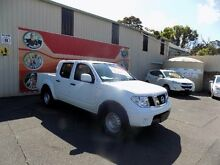 2012 Nissan Navara D40 MY12 RX (4x4) White 5 Speed Automatic Dual Cab Pick-up West Gosford Gosford Area Preview