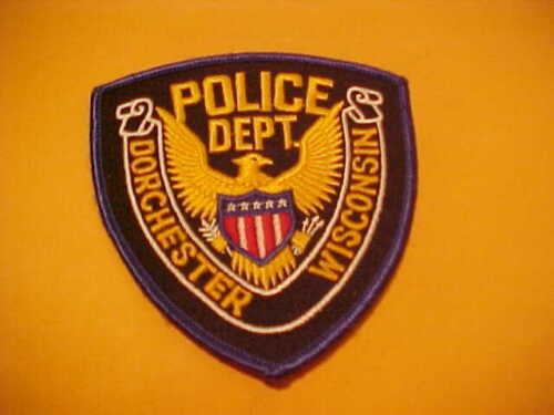 DORCHESTER WISCONSIN POLICE PATCH SHOULDER SIZE UNUSED