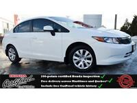 2012 Honda Civic LX, Bluetooth, Steering Wheel Mounted Control !