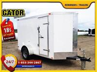 REMORQUE FERMÉ V-NOSE ENCLOSED TRAILER CARGO GATOR   6 X 10