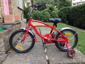 NEW- RED KID BIKE with stabilizers