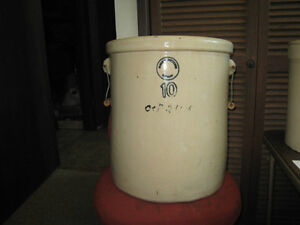 Alberta Potteries Redcliff 10 Gallon Crock