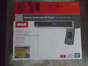 RCA SPS3600 Under-Cabinet CD Player with MP3 Dock