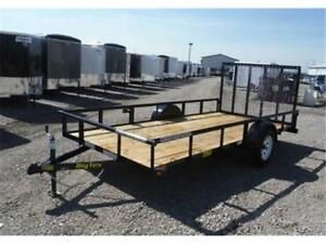 6.5 x 14 Single Axle Trailer - 2,995# GVW - OUT THE DOOR PRICES!
