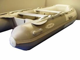 C Pro 3.4m inflatable boat dinghy tender rib inflatable deck v keel new in next month