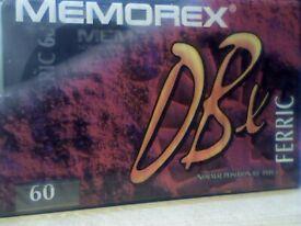NEW SEALED MEMOREX DBX 60 CASSETTE TAPES. RARE.