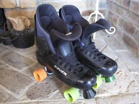 Bauer turbo skates size 9 uk