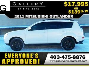 2011 Mitsubishi Outlander LS V6 AWD $139 BI-WEEKLY APPLY NOW