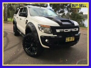2014 Ford Ranger PX XL White Sports Automatic Utility Lansvale Liverpool Area Preview