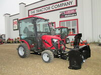New 25HP Mahindra tractor with loader, Snow Blower, and blade