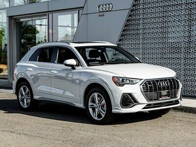 2020 Audi Q3  2020 Audi Q3  8-Speed Automatic with Tiptronic 4334 Miles Glacier White Metallic