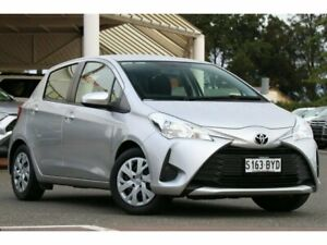 2018 Toyota Yaris NCP130R Ascent Silver Pearl 4 Speed Automatic Hatchback Christies Beach Morphett Vale Area Preview