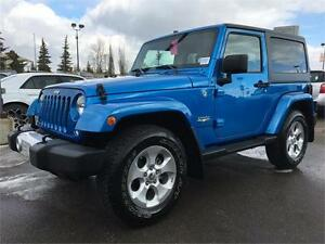 2015 JEEP WRANGLER MANUAL, 2 DOOR, LOW KMS, IN BLUE STREAK !!