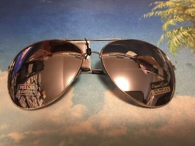 Extra Large Oversized Aviator Sunglasses Mirror Lenses Silver Frame Mirrored (Oversized Silver Mirror)