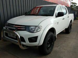 2011 Mitsubishi Triton MN MY12 GLX Double Cab White 5 Speed Manual Utility Blair Athol Port Adelaide Area Preview