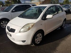 2008 Toyota Yaris NCP90R YR White 5 Speed Manual Hatchback Campbelltown Campbelltown Area Preview