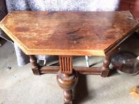 VICTORIAN OAK DINING TABLE TABLE OR SUPPER TABLE [ POSSIBLE SWAP FOR MODERN KITCHEN TABLE AND CHAIRS