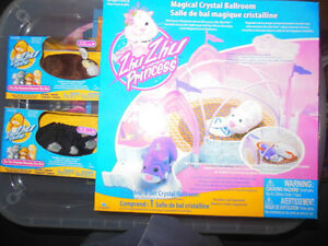 2 ZhuZhu hamster pets, and ZhuZhu princess Ballroom