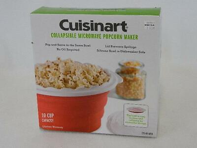 Cuisinart Collapsible Microwave Popcorn Maker Red Silicone V