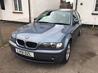 2001 (51) BMW 318i SE Blue, Petrol, MOT AUGUST 2017. FULL SERVICE HISTORY.