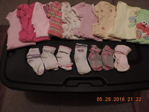 Girl's Size 12-18months Onesies, Socks & Diaper Covers