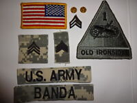 Old Ironsides US OD Armabzeichen 1st Armored Division tarnfarben