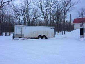 25' V-Nose Enclosed Trailer