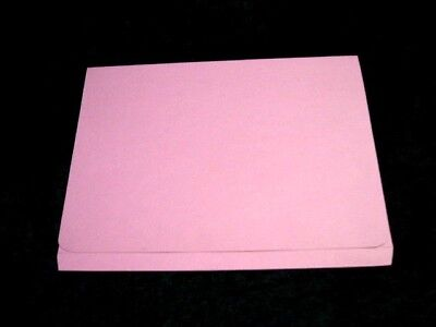 9 x Pink Document Wallets Full Flap Foolscap 315gsm 35mm 508619 Invo