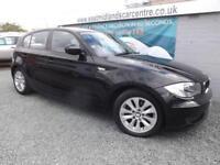 2010 60 BMW 1 SERIES 2.0 116D ES 5D 114 BHP DIESEL BLACK DIESEL