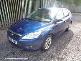 FORD FOCUS 2008 1.8 PETROL 5 DOOR HATCHBACK BLUE 64,000 MILES FULL SERVICE HISTORY M.O.T 09/01/18