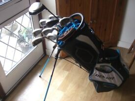 Golf Clubs, Bag, and Trolley