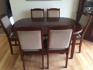 Wood dining table and chair set South Perth South Perth Area Preview