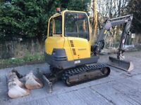 3 ton mini digger and tractor hire with driver any groundwork's accepted sheffield/Derbyshire