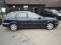 55 JAGUAR X-TYPE 2.5 V6 AUTOMATIC 4X4 SE TOURER 75K FSH OCEAN BLUE/GREY LEATHER