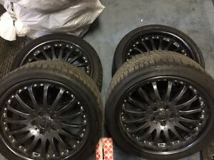 4 Carlsson Black wheel rims and Tires