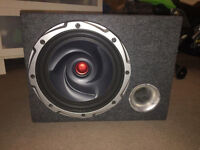 Kenwood subwoofer and amplifier for a car