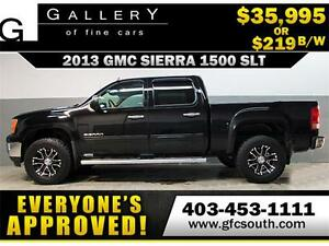 2013 GMC SIERRA SLT LIFTED *EVERYONE APPROVED* $0 DOWN $219/BW