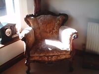 SINGLE OR PAIR OF ANTIQUE ARMCHAIRS