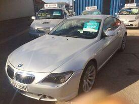 BMW 6 SERIES 4.8 650I SPORT 2d AUTO 363 BHP auto (silver) 2005