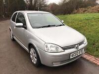 CHEAP Vauxhall Corsa 1.2 i 16v SXi 3dr 69000 MILES+MOT-11-17+VGC