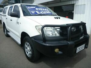 2009 Toyota Hilux KUN26R MY10 SR White 4 Speed Automatic Utility Edwardstown Marion Area Preview