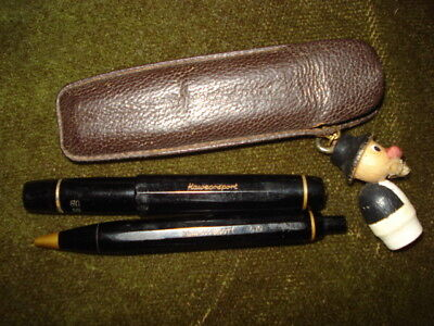 ABSOLUTELY RARE KAWECO SPORT 12G SET PEN/ PENCIL/LEATHER CASE LOOK