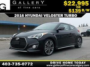 2016 Hyundai Veloster Turbo $139 bi-weekly APPLY NOW DRIVE NOW